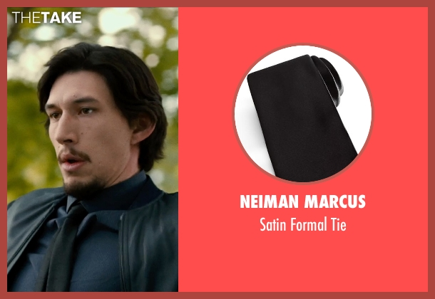 NEIMAN MARCUS black tie from This Is Where I Leave You seen with Adam Driver (Philip Altman)