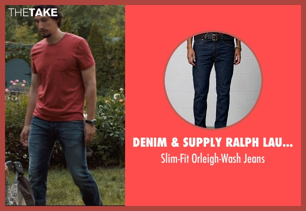 DENIM & SUPPLY RALPH LAUREN blue jeans from This Is Where I Leave You seen with Adam Driver (Philip Altman)