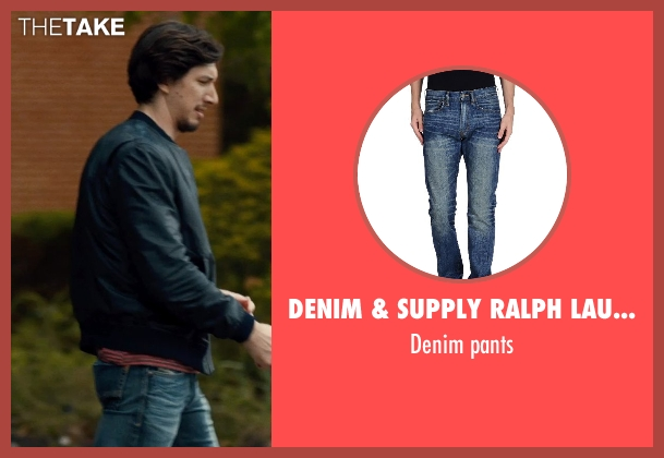 DENIM & SUPPLY RALPH LAUREN blue pants from This Is Where I Leave You seen with Adam Driver (Philip Altman)