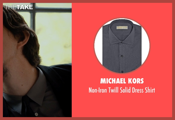 MICHAEL KORS gray shirt from This Is Where I Leave You seen with Adam Driver (Philip Altman)