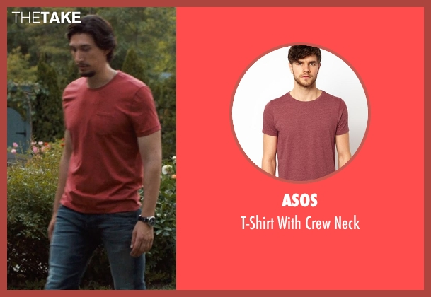 ASOS red neck from This Is Where I Leave You seen with Adam Driver (Philip Altman)