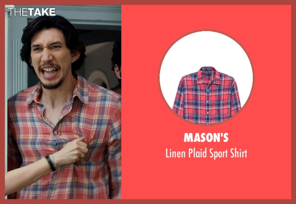 MASON'S red shirt from This Is Where I Leave You seen with Adam Driver (Philip Altman)