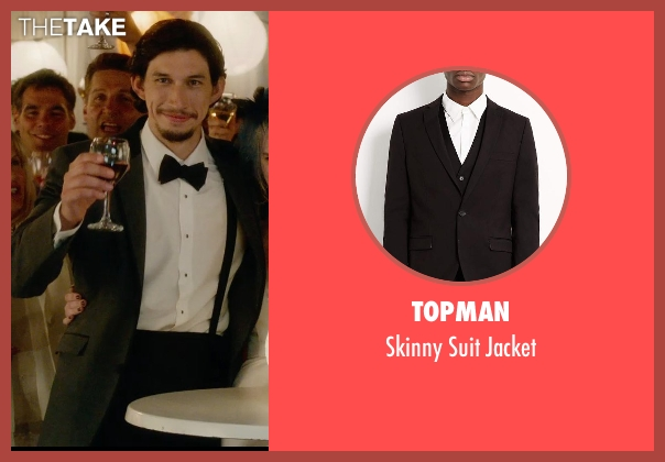 Topman black jacket from What If seen with Adam Driver (Allan)