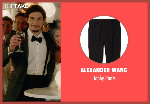 Alexander Wang black pants from What If seen with Adam Driver (Allan)