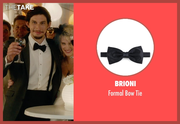 Brioni black tie from What If seen with Adam Driver (Allan)