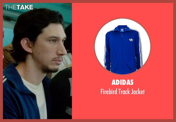 Adidas blue jacket from What If seen with Adam Driver (Allan)