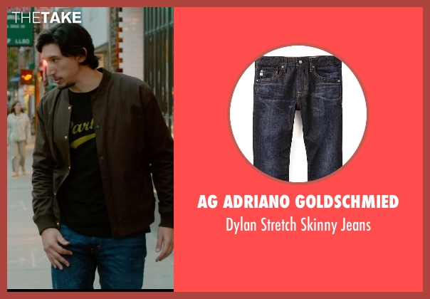 AG Adriano Goldschmied blue jeans from What If seen with Adam Driver (Allan)