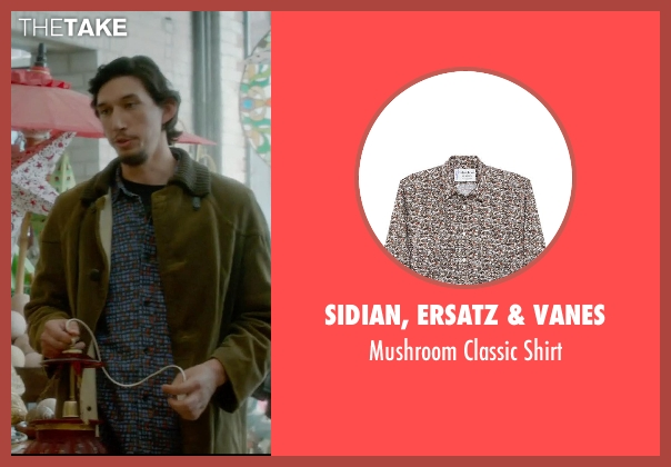 Sidian, Ersatz & Vanes blue shirt from What If seen with Adam Driver (Allan)