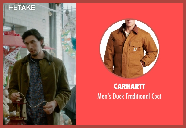 Carhartt brown coat from What If seen with Adam Driver (Allan)