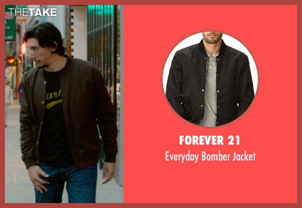 Forever 21 brown jacket from What If seen with Adam Driver (Allan)