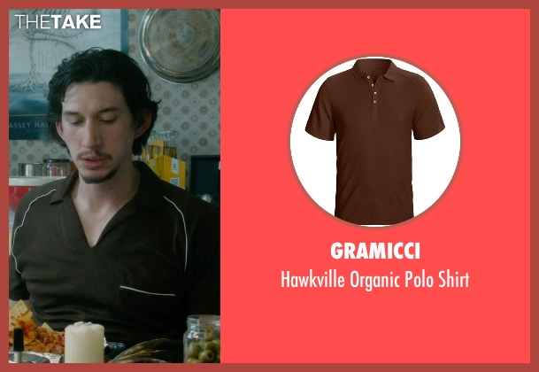 Gramicci brown shirt from What If seen with Adam Driver (Allan)