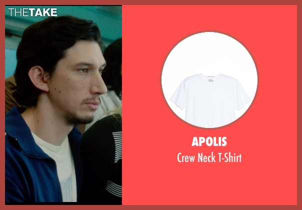 Apolis white t-shirt from What If seen with Adam Driver (Allan)