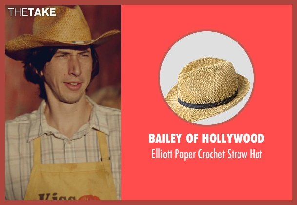 Bailey of Hollywood beige hat from While We're Young seen with Adam Driver (Jamie)