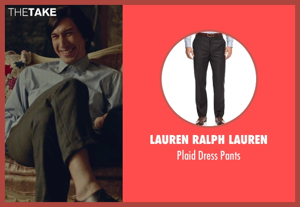 Lauren Ralph Lauren black pants from While We're Young seen with Adam Driver (Jamie)