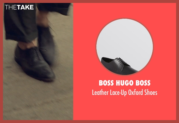 Boss Hugo Boss black shoes from While We're Young seen with Adam Driver (Jamie)