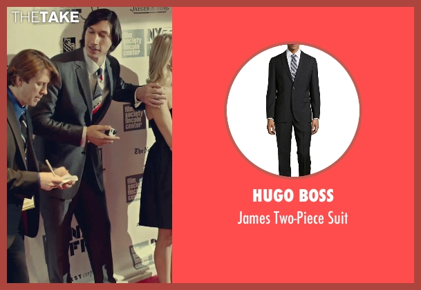 Hugo Boss black suit from While We're Young seen with Adam Driver (Jamie)