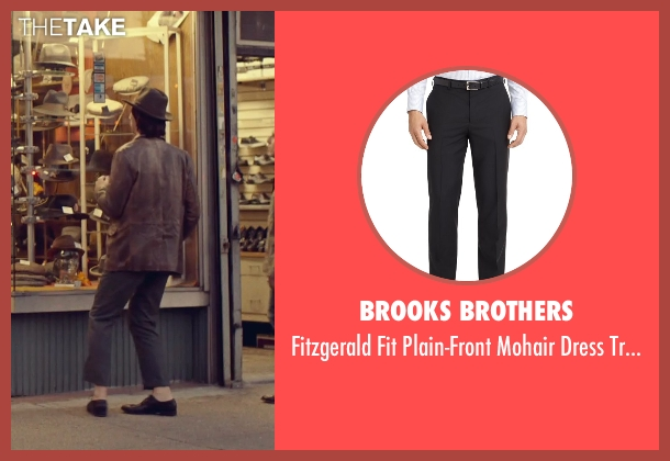 Brooks Brothers black trousers from While We're Young seen with Adam Driver (Jamie)