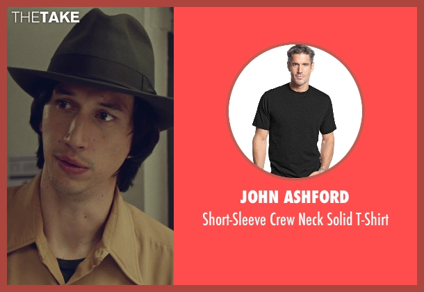John Ashford black t-shirt from While We're Young seen with Adam Driver (Jamie)