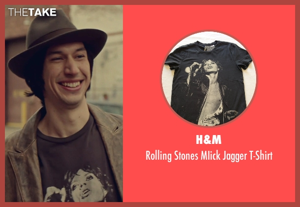 H&M black t-shirt from While We're Young seen with Adam Driver (Jamie)