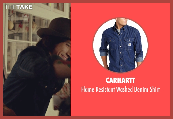 Carhartt blue shirt from While We're Young seen with Adam Driver (Jamie)
