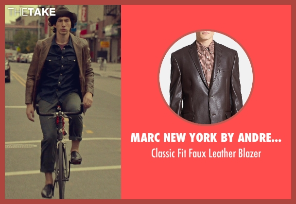 Marc New York by Andrew Marc brown blazer from While We're Young seen with Adam Driver (Jamie)
