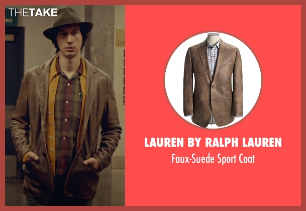 Lauren by Ralph Lauren brown coat from While We're Young seen with Adam Driver (Jamie)