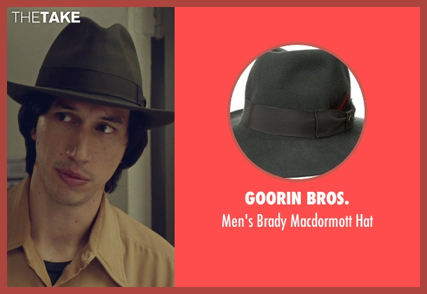 Goorin Bros. brown hat from While We're Young seen with Adam Driver (Jamie)