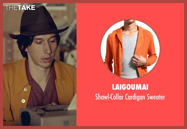 Laigoumai orange sweater from While We're Young seen with Adam Driver (Jamie)