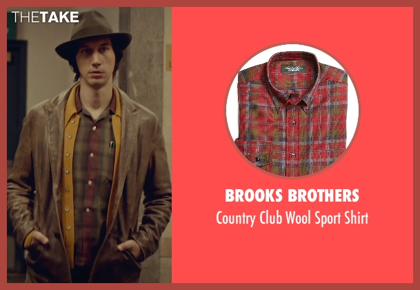Brooks Brothers red shirt from While We're Young seen with Adam Driver (Jamie)