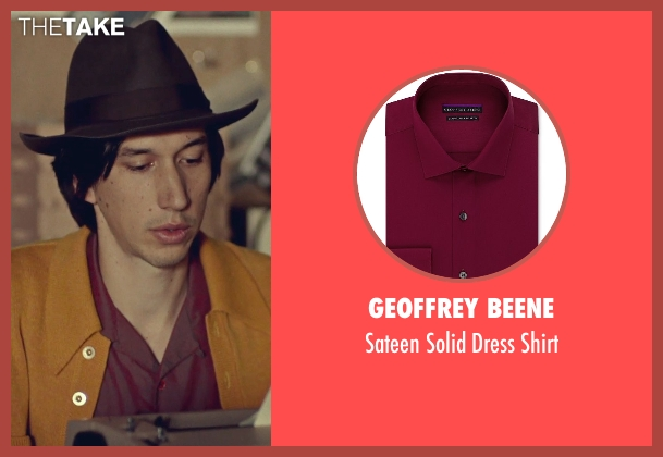 Geoffrey Beene red shirt from While We're Young seen with Adam Driver (Jamie)