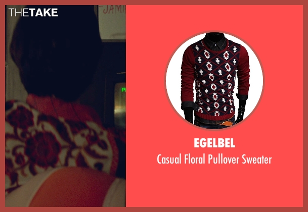 Egelbel red sweater from While We're Young seen with Adam Driver (Jamie)