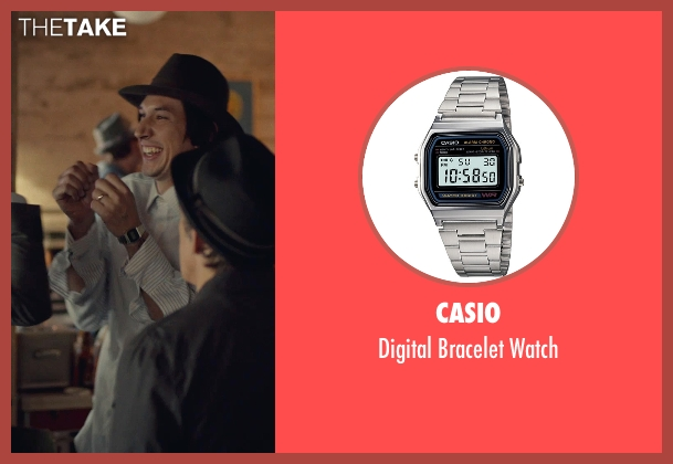 Casio silver watch from While We're Young seen with Adam Driver (Jamie)