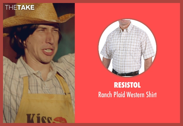 Resistol white shirt from While We're Young seen with Adam Driver (Jamie)