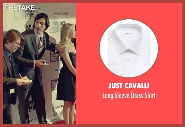 Just Cavalli white shirt from While We're Young seen with Adam Driver (Jamie)