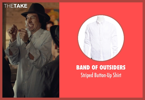 Band of Outsiders white shirt from While We're Young seen with Adam Driver (Jamie)
