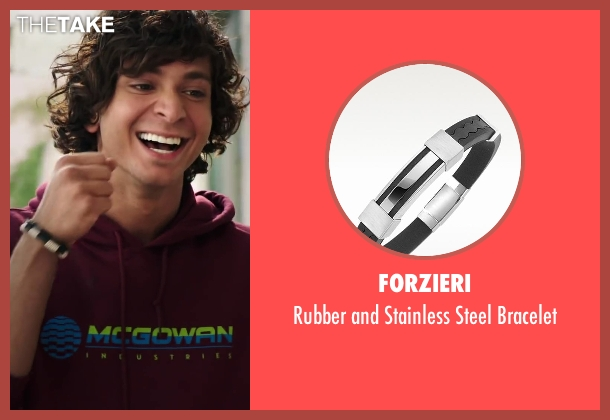 Forzieri black bracelet from Step Up: All In seen with Adam G. Sevani (Moose)