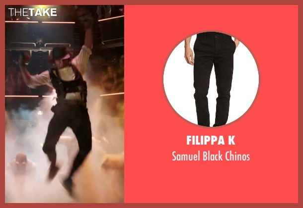FILIPPA K black chinos from Step Up: All In seen with Adam G. Sevani (Moose)