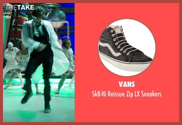 Vans black sneakers from Step Up: All In seen with Adam G. Sevani (Moose)