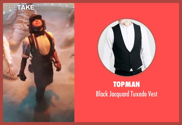 Topman black vest from Step Up: All In seen with Adam G. Sevani (Moose)