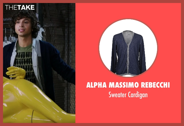 Alpha Massimo Rebecchi blue cardigan from Step Up: All In seen with Adam G. Sevani (Moose)