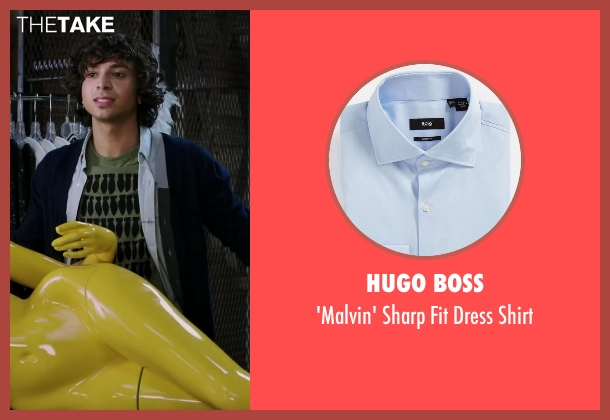 Hugo Boss blue shirt from Step Up: All In seen with Adam G. Sevani (Moose)