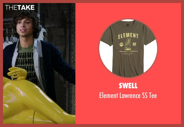 Swell green tee from Step Up: All In seen with Adam G. Sevani (Moose)