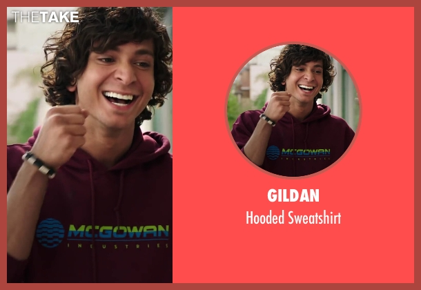 Gildan red sweatshirt from Step Up: All In seen with Adam G. Sevani (Moose)