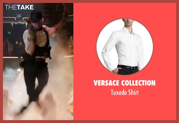 Versace Collection white shirt from Step Up: All In seen with Adam G. Sevani (Moose)