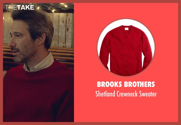 Brooks Brothers red sweater from While We're Young seen with Adam Horovitz (Unknown Character)