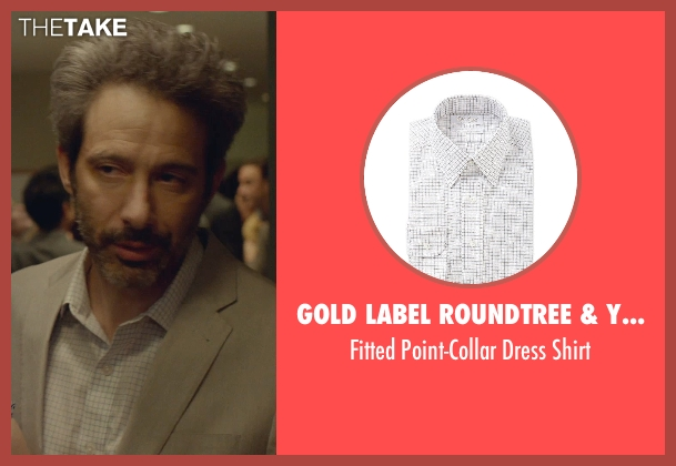 Gold Label Roundtree & Yorke white shirt from While We're Young seen with Adam Horovitz (Unknown Character)