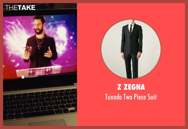 Z Zegna black suit from Begin Again seen with Adam Levine (Dave)