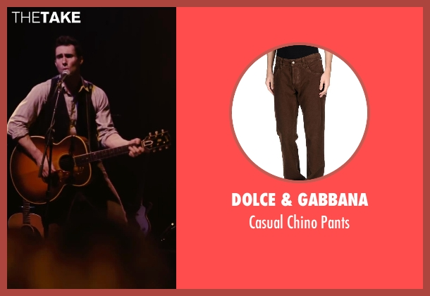 Dolce & Gabbana brown pants from Begin Again seen with Adam Levine (Dave)