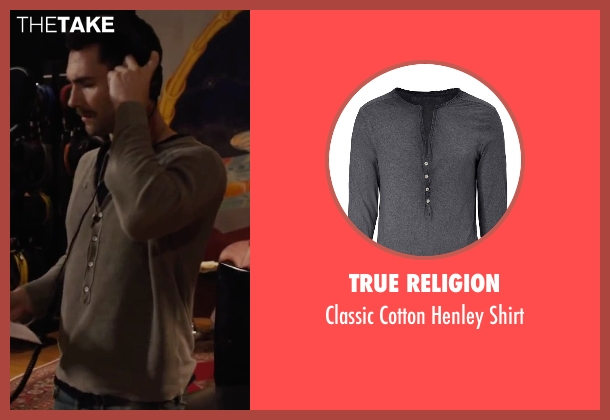 True Religion gray shirt from Begin Again seen with Adam Levine (Dave)