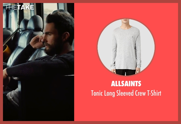 AllSaints gray t-shirt from Begin Again seen with Adam Levine (Dave)